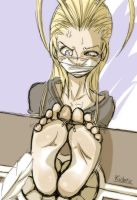 Larxene about to be tickled for a long time... by Kidetic