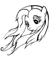 Fluttershy ink by MermaidSoupButtons