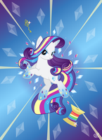 Rainbow power:Rarity by Roze23
