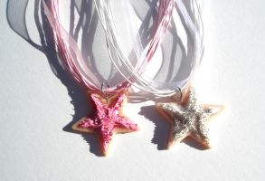 star cookie necklaces by MotherMayIjewelry