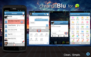 chromisBlu for Go SMS by kingdonnaz