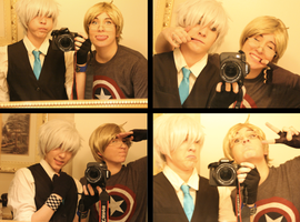 Prussia and American ~ Goofin Off by OurLivingLegacy