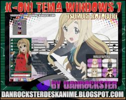 Tsumugi Kotobuki Theme Windows 7 by Danrockster