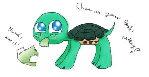 Chew on your leaf, Mikey! by Biusx
