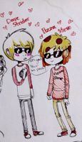 pizza steve and dave strider by MemoriaSwan