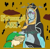midna and link, my master by Estevangel