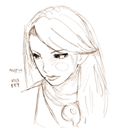 AA: Mia Fey Sketch by SuperAiko