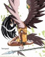 Tempest the Hawkgirl by ChaloDillo