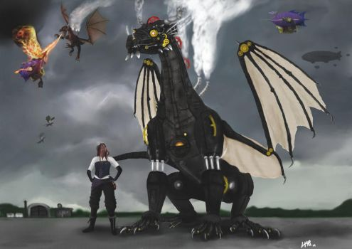 Steam Dragon Wars by aldana07