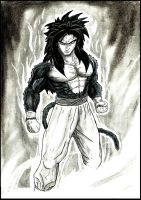 The Savage Son (Goku SSJ4) by The-Infamous-MrGates