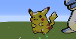 Pikachu (Minecraft Pixel Art) by wolfspain12