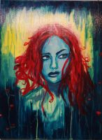 Persephone in Red by SarArt16