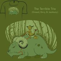 Woot Shirt - The Terrible Trio by fablefire
