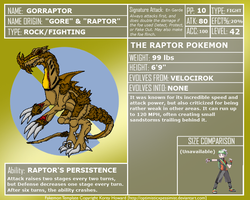 FakeDex Entry - Gorraptor by UltimateRidley
