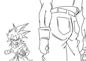 Goten VS Evil Trunks by darkhawk5