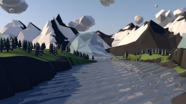 Melting Glacier Low-Poly by allenamin