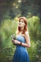 Portrait with flowers by west-kis