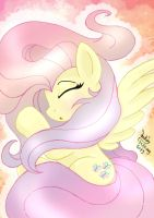 MLP FIM - Sleepy Rainbow Fluttershy by Joakaha