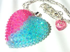 Rock Candy Heart necklace by pinkminx