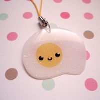 Happy eggy- cell phone charm by chibigon