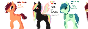 Pony Adoptable Batch #2 by Inky-Adopts