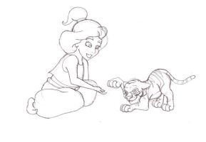 Little Jasmine and Rajah by Blossom-Disneyaholic