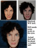 OOAK Sherlock Benedict Cumberbatch Doll WIP part 2 by Forestina-Fotos