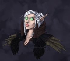 Commish - Blood-elf Warlock by madcarrot