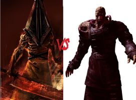 Nemesis VS Pyramid Head by cellamare