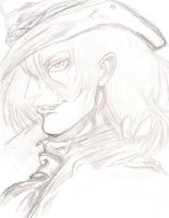 Alucard and Hat pencil by death-in-the-orchard