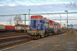 Lokorail 740 787-7 and T448 0684 in Rajka by morpheus880223