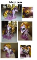 Custom Ichigo from Bleach pony by Sapphire-Light