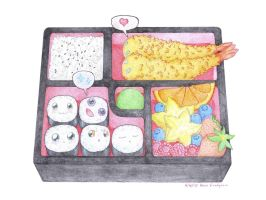Love in a Bento Box by xikeru