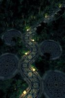 Path Through Jungle - Night by hoangphamvfx