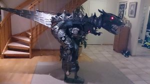 Transforming Grimlock costume - Age Of Extinction by Grovestream
