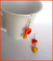 Simply Love Hearts Earring by CookingMaru