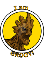Groot T-Shirt by Vic-Neko