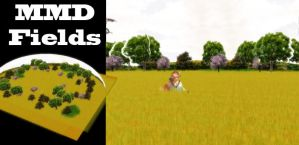 MMD Golden Fields Stage Download by SachiShirakawa