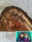 Wood burned portrait by Karmakat01