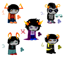 Homestuck adopts! 1 point each by ButtonmashMC