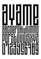 Ayame typeface 1 by andreasleonidou