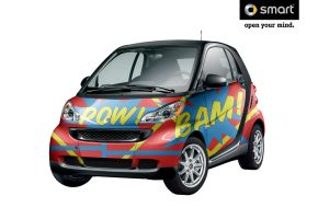 Super Hero Smart Car by jrweinman