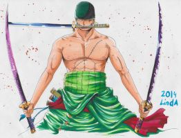 commisson: roronar zoro by artworksOFjudge