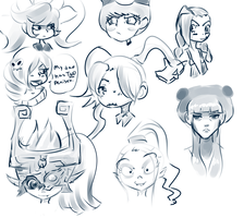A bunch of girls from a variety of places. by NebillTheTerrified