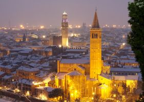 Verona under snow - 2 no HDR by Runfox