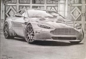 Aston Martin with vorsteiner rims by solarstorm9