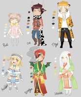 Adopts::Chines Zodiac part 1 CLOSED by Pandastrophic
