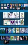 Anime style art over the years by purenightshade