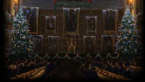 Pottermore Background: Great Hall at Christmas #2 by xxtayce