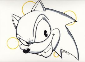 Sonic Warm Up by Bloodzilla-Billy